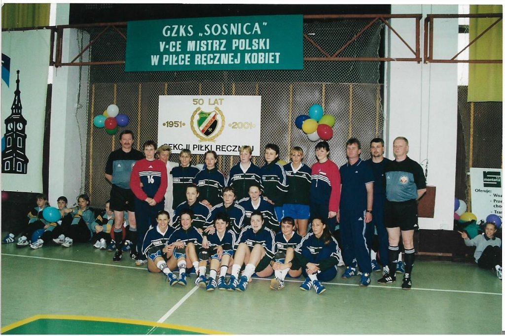 Wicemistrzostwo Sośnicy w 2001 r.