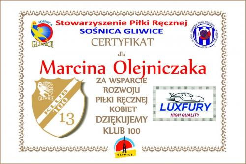 13 certyfikat 2017 2018 LuxFury